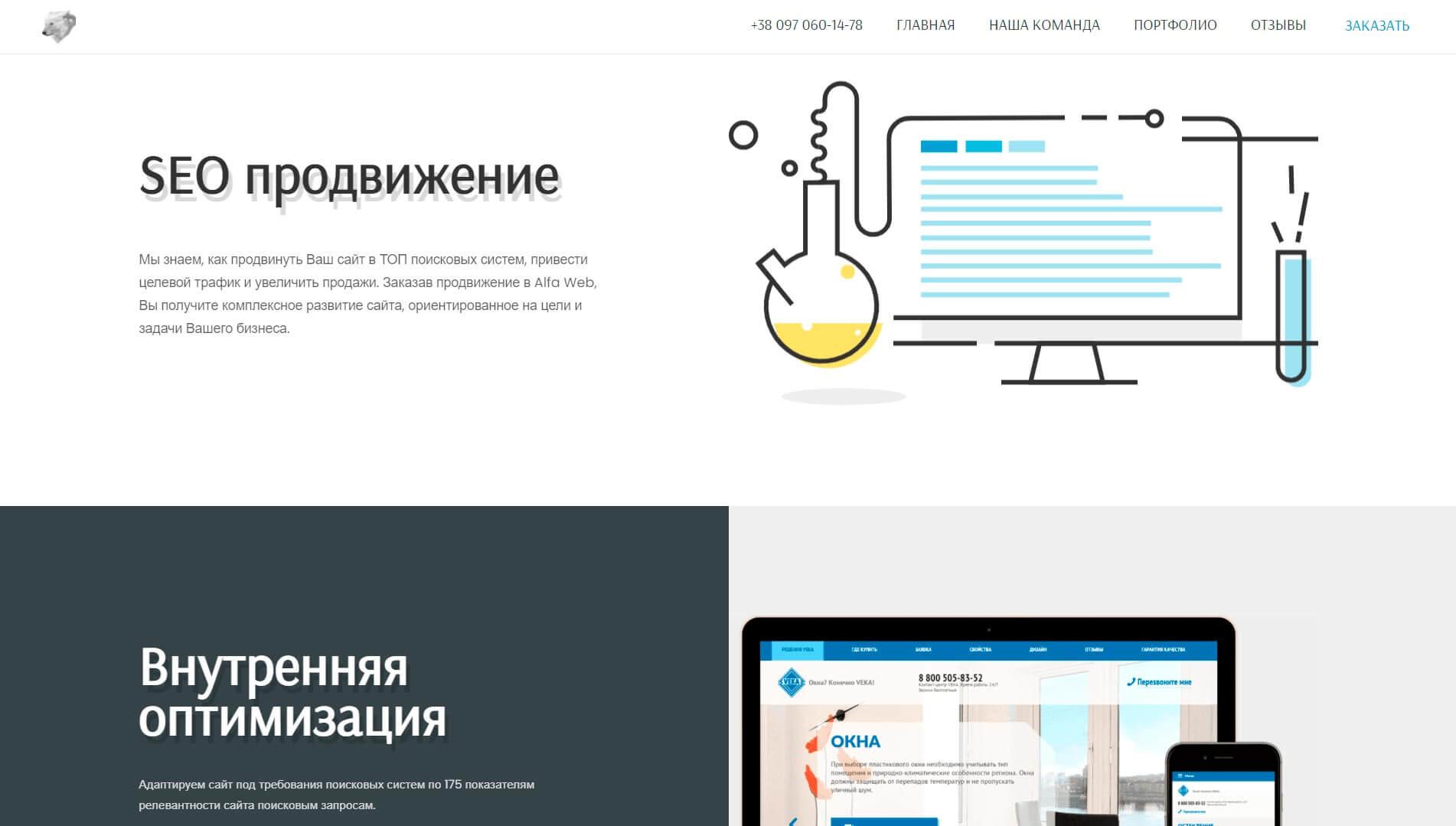 ALFA WEB - обзор компании, услуги, отзывы, клиенты, Фото № 3 - google-seo.pro