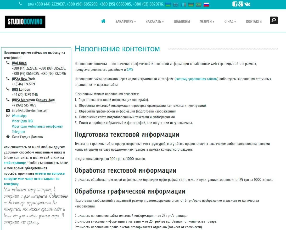 Студия Домино - обзор компании, услуги, отзывы, клиенты, Фото № 3 - google-seo.pro