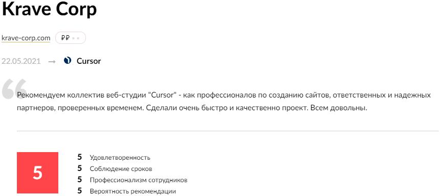 Cursor - обзор компании, услуги, отзывы, клиенты, Фото № 7 - google-seo.pro