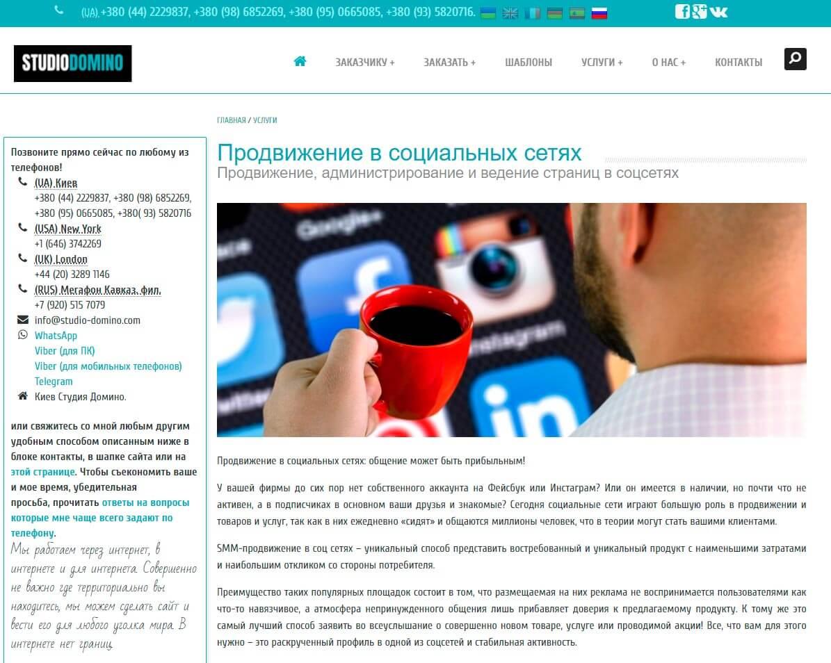 Студия Домино - обзор компании, услуги, отзывы, клиенты, Фото № 2 - google-seo.pro