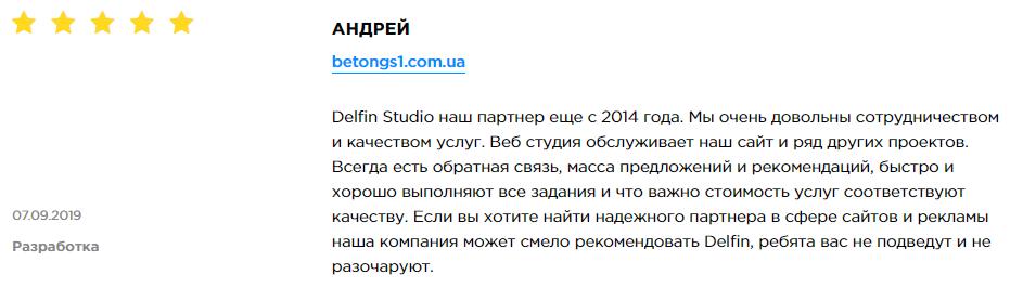 Delfin Studio - обзор компании, услуги, отзывы, клиенты, Фото № 3 - google-seo.pro