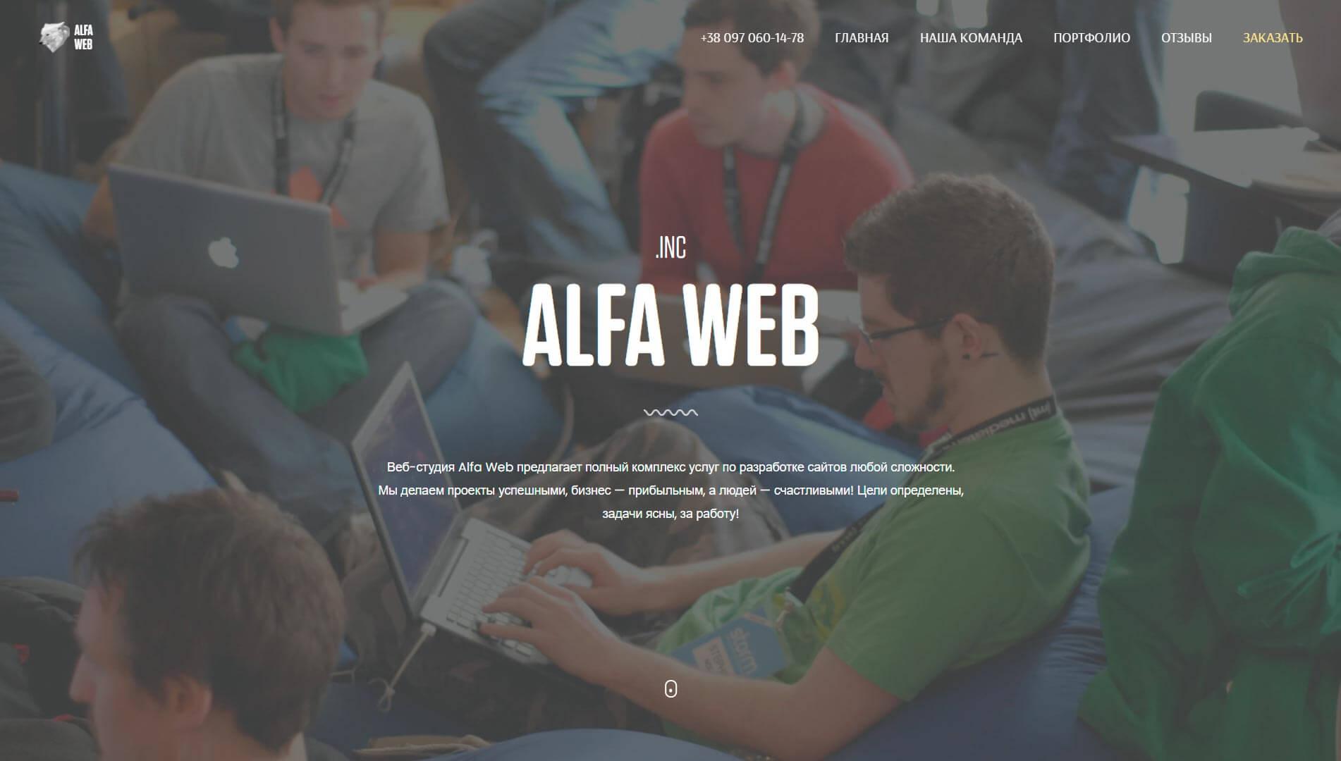 ALFA WEB - обзор компании, услуги, отзывы, клиенты, Фото № 1 - google-seo.pro