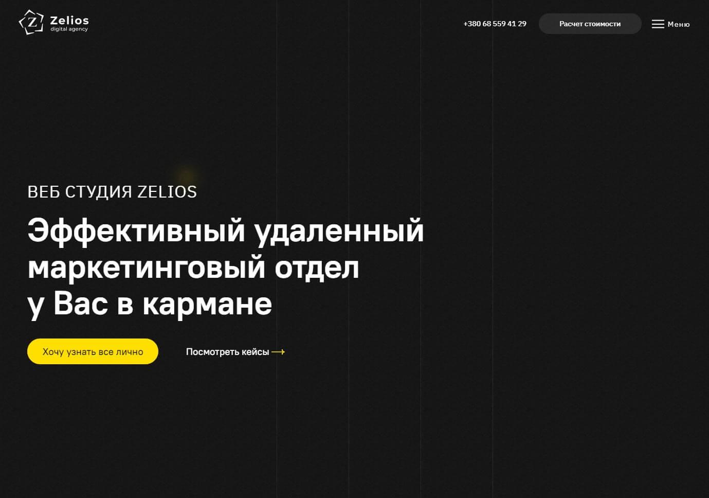Zelios - обзор компании, услуги, отзывы, клиенты, Фото № 1 - google-seo.pro